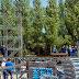 Avanza la construcción del escenario mayor de la Fiesta Nacional de la Manzana