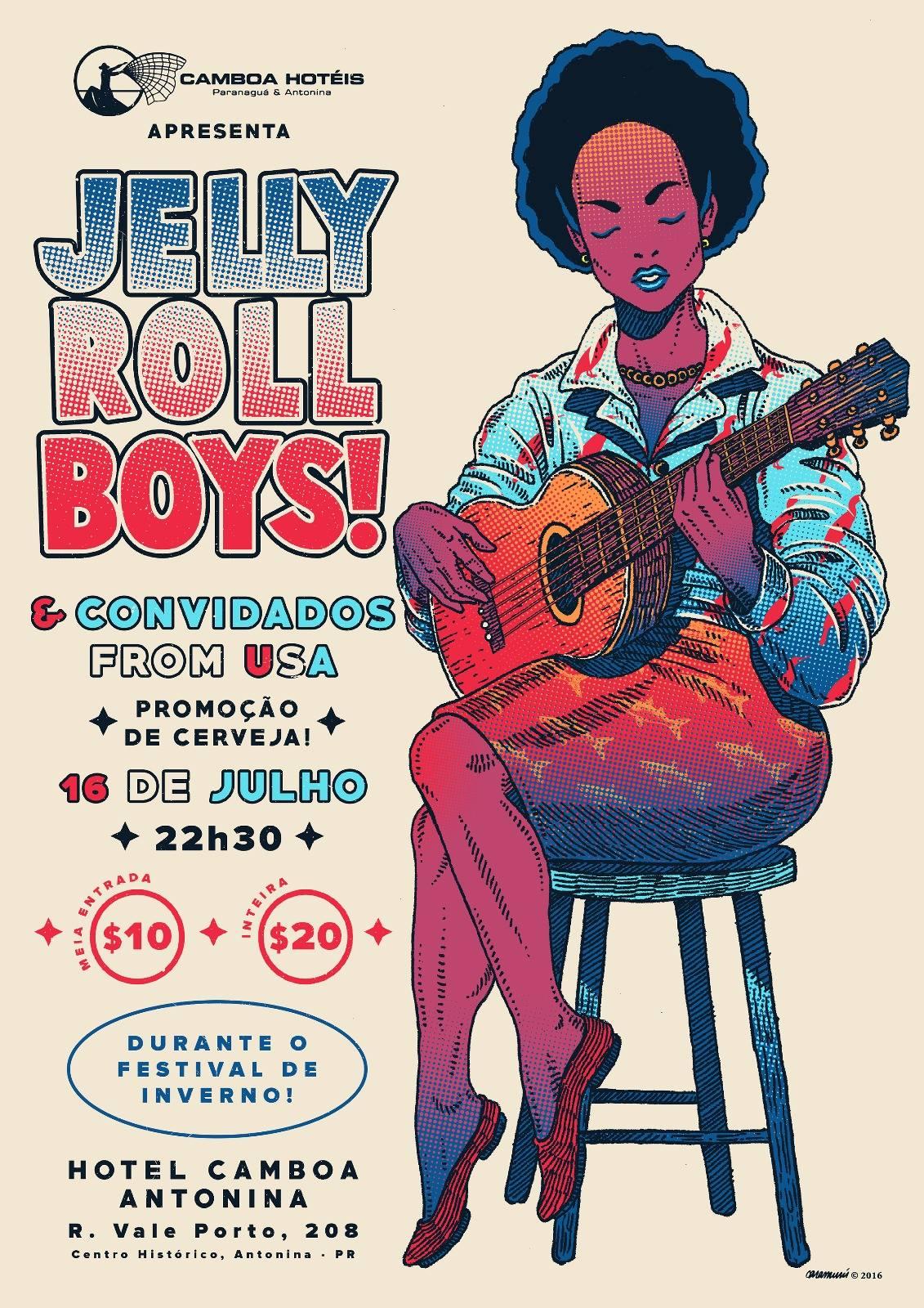 849cbc696dfa A festa é boa e a música melhor ainda! Neste sábado, 16/07, a banda Jelly  Roll Boys toca em Antonina com convidados mais que especiais!