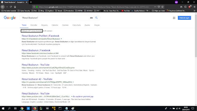 google-dorkları