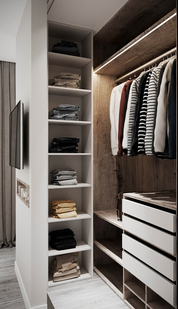white-and-wood-closet
