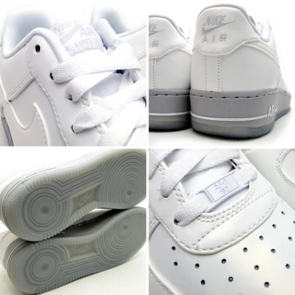 Nike Rumble: Nike Air Force 1 Low White Medium Grey Ice