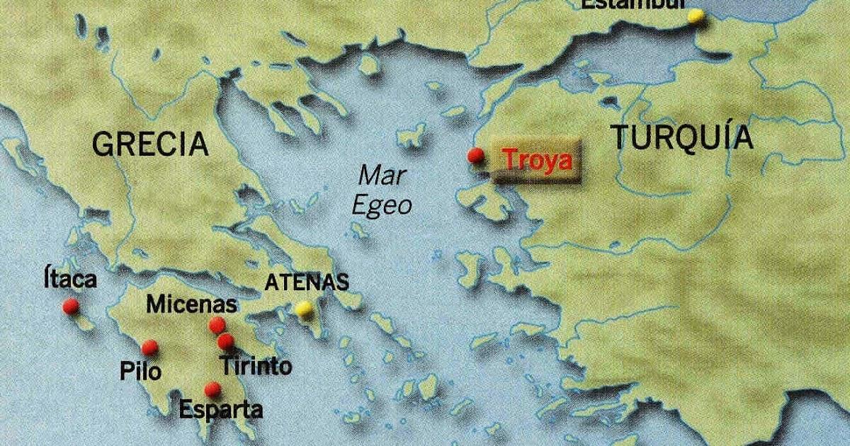 troya mapa Donde Esta Troya troya mapa