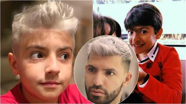 Nuevo look: el hijo de Gianinna se tiñó el pelo de gris como su papá