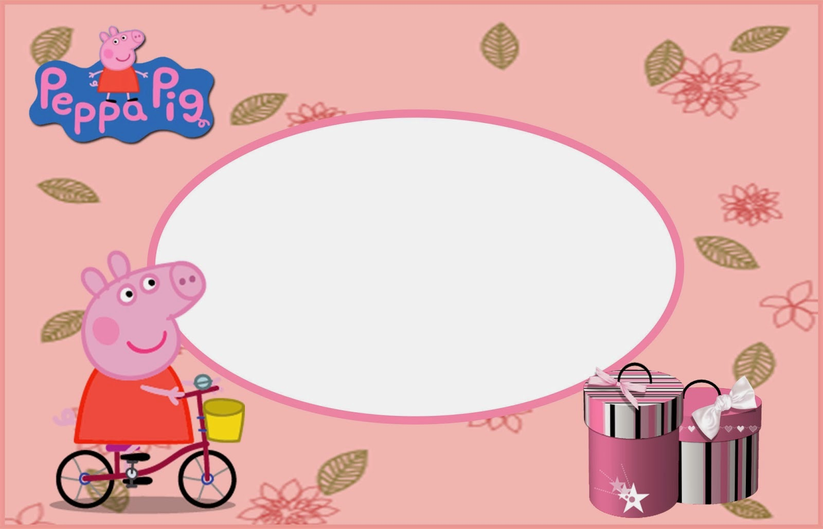 Peppa Pig: Free Printable Invitations, Labels or Cards. | Oh My ...