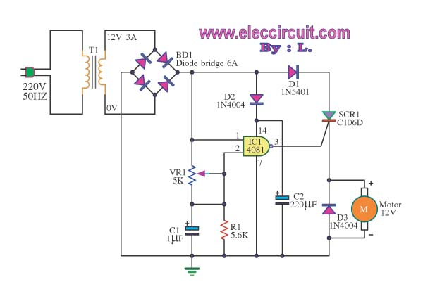 220v Dc Motor Speed Control Circuit Diagram