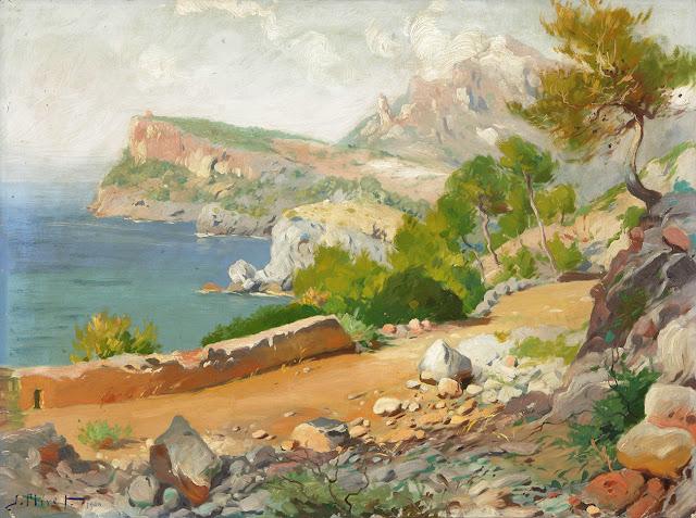 José Miret Aleu, Pintor Español, Paisaje Mallorquín, Mallorca pintada, Paisajes de Mallorca, Mallorca en Pintura,