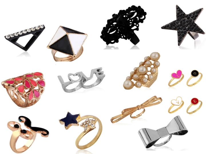 Bow Rings, Heart Rings, Love Rings, statement rings,
