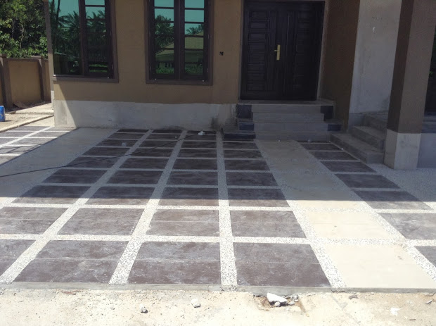 Car Porch Tiles Design