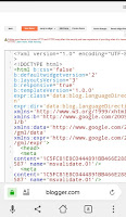 How to edit blogger XML template on mobile by thegoldentech