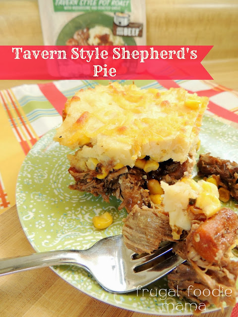 This Tavern Style Shepherd's Pie combines two traditional weekend classics into one delicious, family pleasing meal.