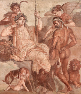 Roman Wall Painting in Pompeii
