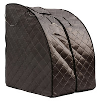 Fully-insulated triple layered fabric with dual zippers on Radiant Saunas BSA6310 portable sauna
