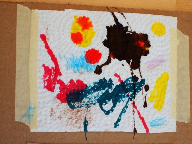 marker on paper towel kid's art