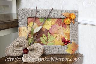 Курочка-жнейка с серпом, картина из листьев и осенний каравай.