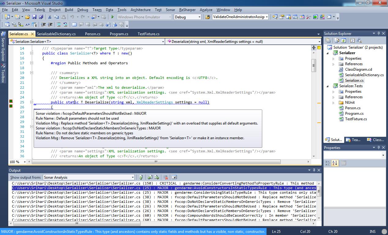 Sonar and Visual Studio Integration - Made Easy - VSSonarExtension