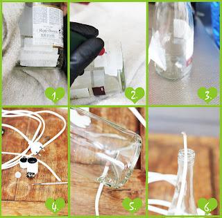 como hacer una lampara reciclada