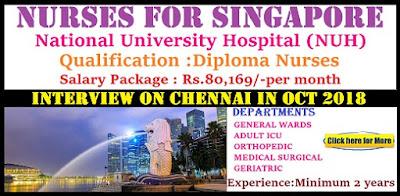 Global Placcements- Singapore Nursing Recruitment 2018