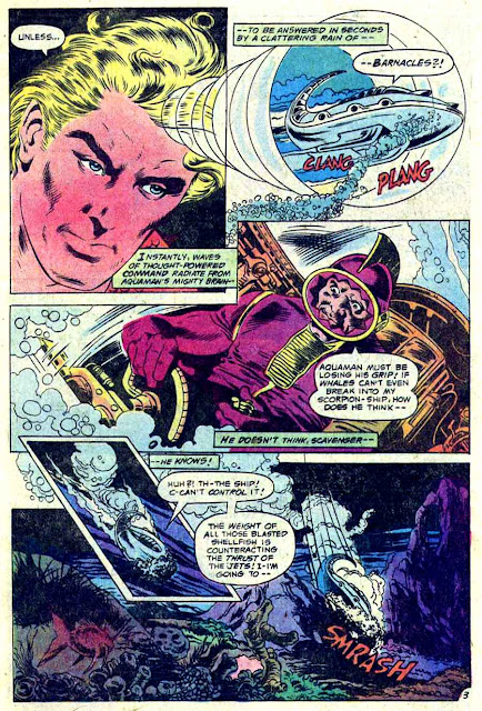 Aquaman v1 #60 dc 1970s bronze age comic book page art by Don Newton