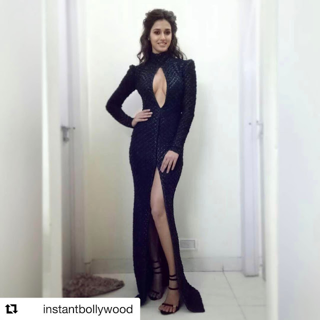 Disha Patani Looks Hot in Black Outfit