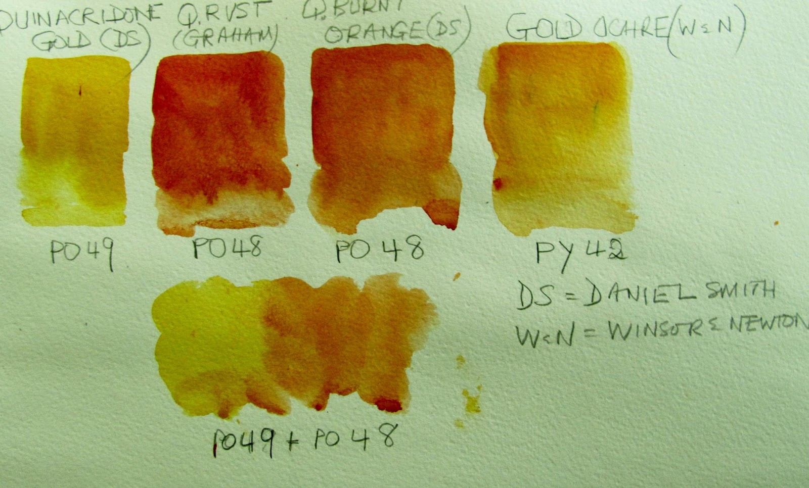 The Watercolour Log Po48 Amp Po49 Quinacridones