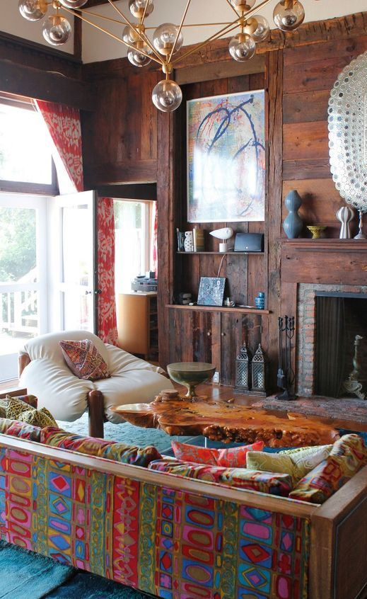 color boho interior design idea