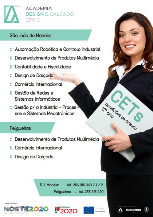 Cursos cet financiados em São Joao da Madeira