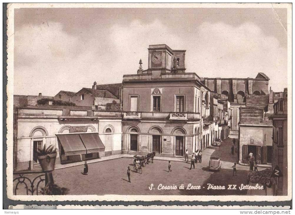 San cesario di lecce piazza xx settembre 1952 ed cerundolo for Albanese arredamenti san cesario lecce