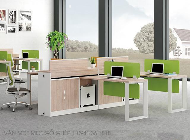 bàn ghế văn phòng chất liệu mdf melamine giá rẻ