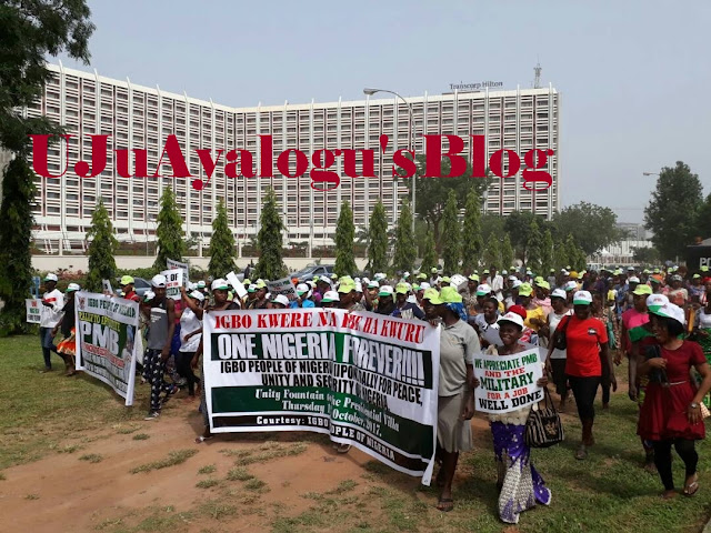 Happening Now: Operation python dance: Igbos march to Villa to commend Buhari