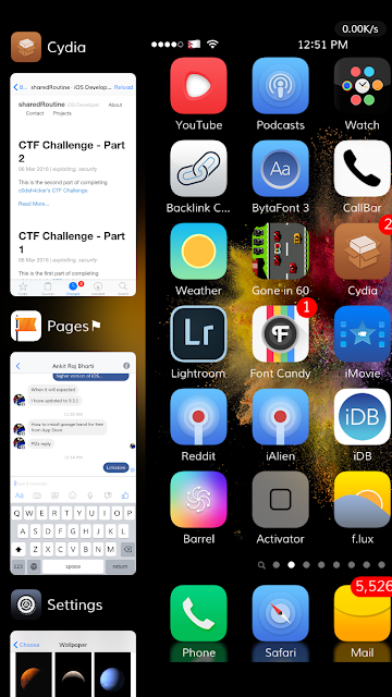 Phenomenon is the nice app switcher replacement tweak which allows users to access the new multitasking interface on iOS devices.