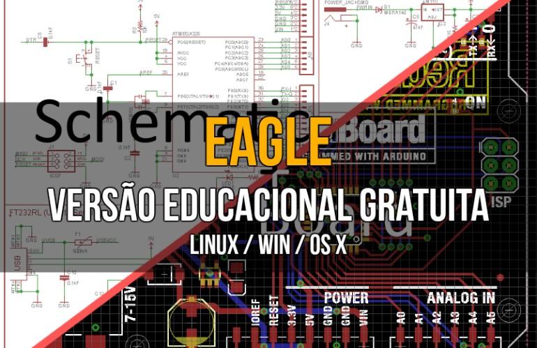 EAGLE - Versão educacional gratuita.