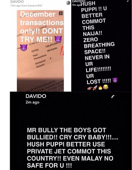 Davido spent N130m in December 2016, shares bank statement