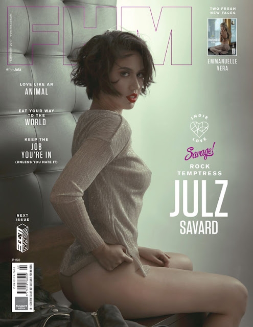 Emmanuelle Vera, Julz Savard on the cover of FHM February 2017