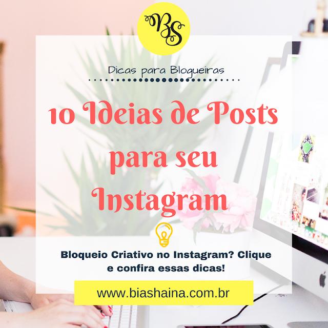 10 Ideias de Posts para seu Instagram