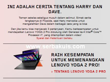 Kuis Berhadiah Lenovo YOGA 2 Pro