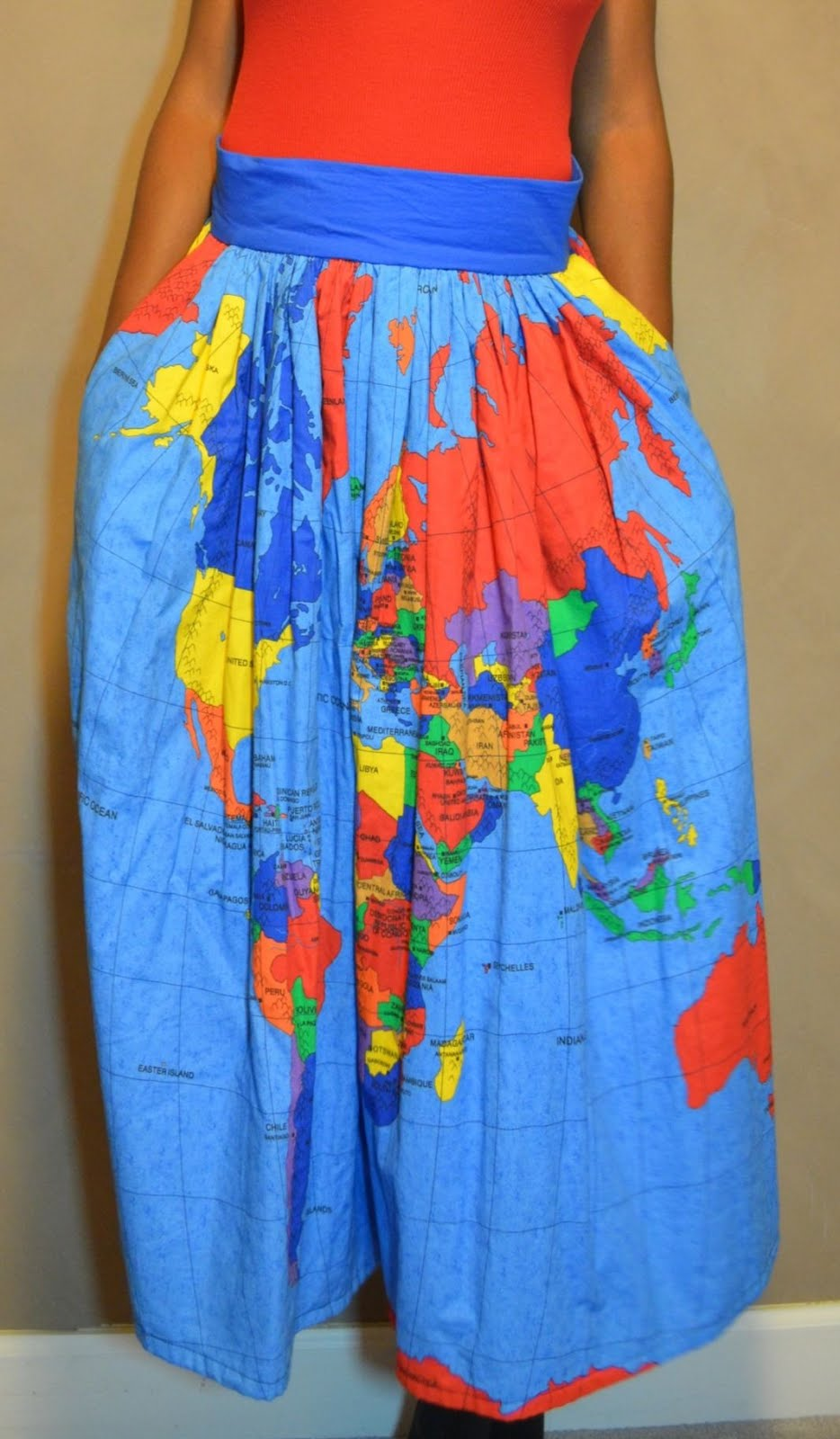 Get Your Limited Edition Map Of The World Skirt The Daily Affair