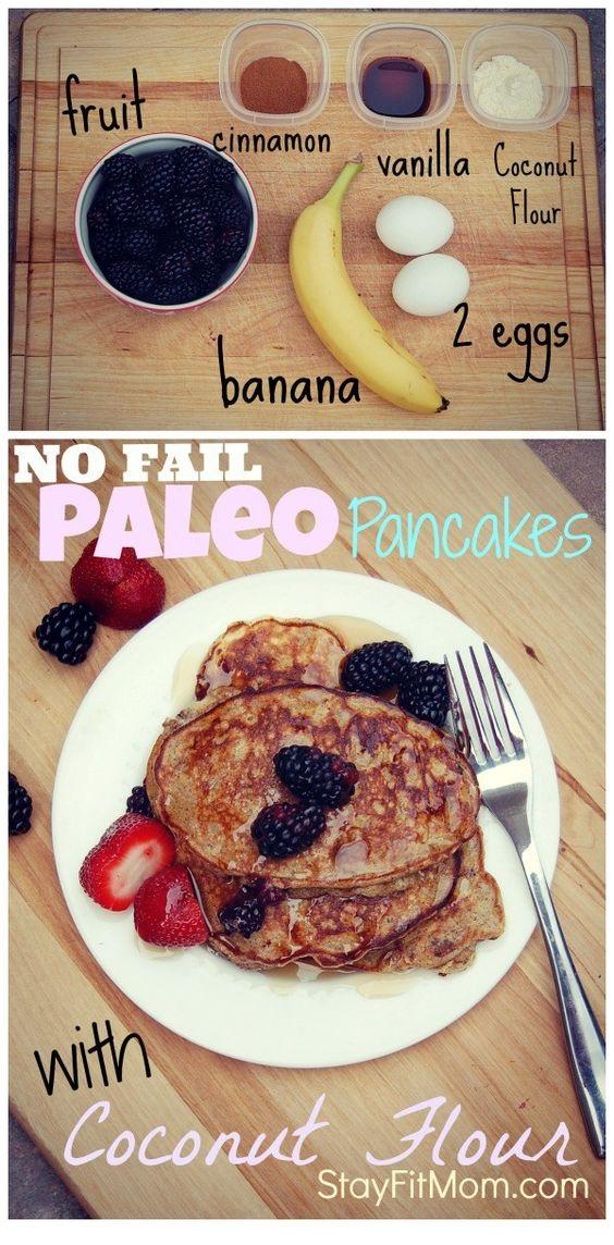 No Fail Paleo Pancakes; Gluten Free