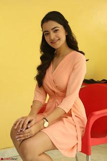 Rukshar Mir in a Peachy Deep Neck Short Dress 017.JPG