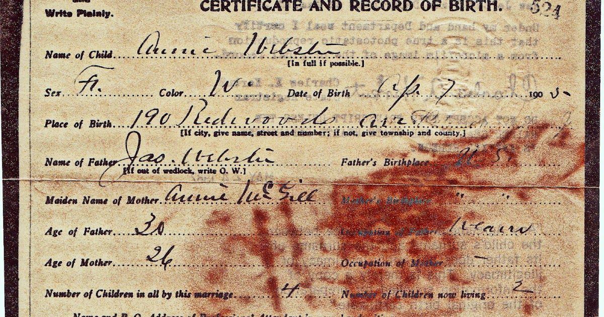 Entering a birth certificate in Family Tree Maker 2012
