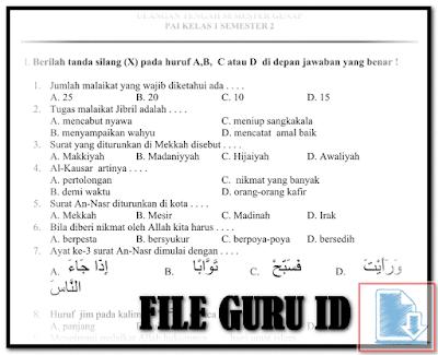Contoh Soal Abadi UTS SD Semester 2 Kelas 1 2 3 4 5 6 Format Words