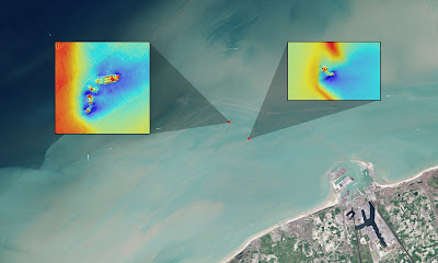 Landsat satellite spots shipwrecks off Belgium coast