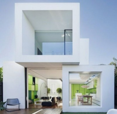 model rumah futuristik minimalis