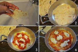 foto preparazione Ricetta pizza a base di pane carasau per bambini