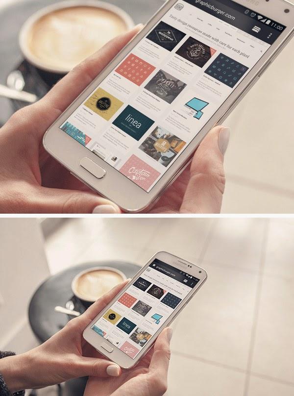 Samsung Galaxy S5 Android Phone Mockup