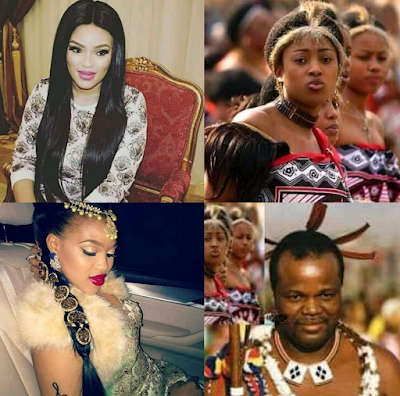 Image result for Senteni Masango, the 8th wife of Swaziland King Mswati III