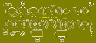 skema audio compressor dan layout Komplit