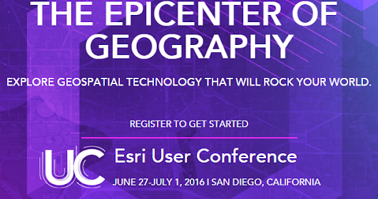 HealthLandscape: It's that Time Again - Gearing up for Esri User Conference