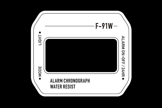 チプカシ CASIO F-91W ウォッチウェイス シール