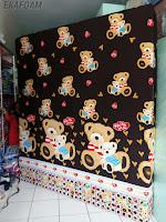 kasur busa inoac 2017 motif teddy bear coklat