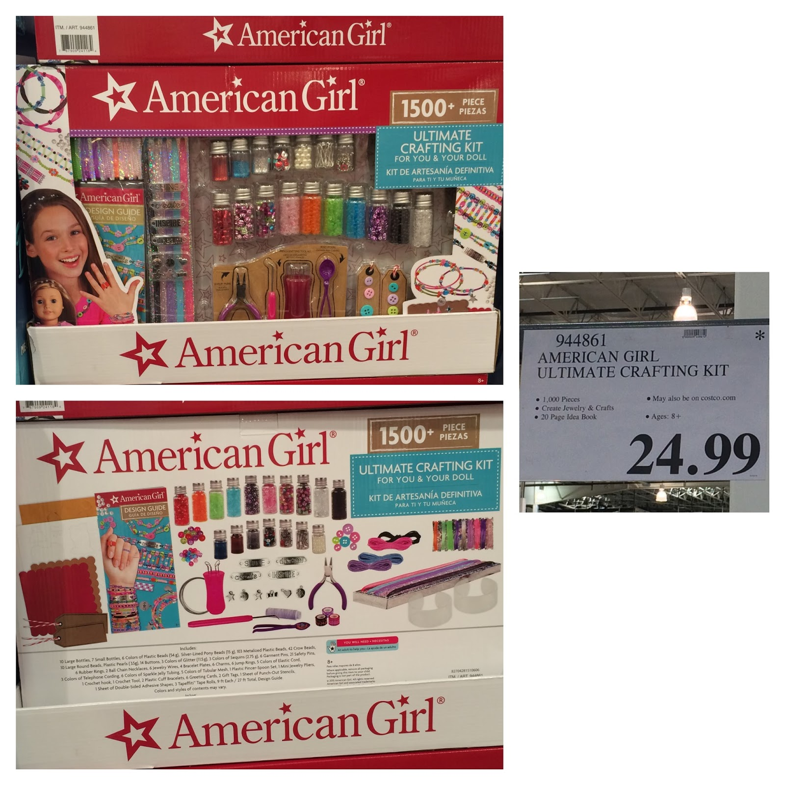 The costco connoisseur crafting coloring with costco for American girl ultimate crafting super set